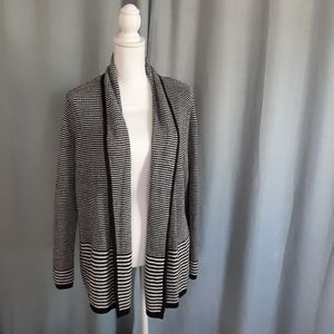 Croft & Barrow striped cardigan sweater Size Large